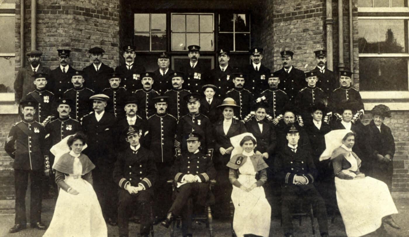 Infirmary Staff, Christmas 1913