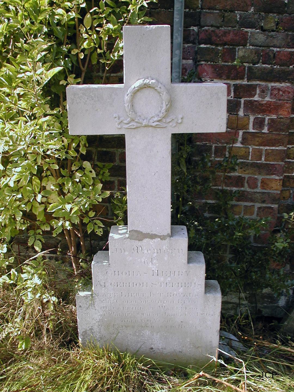 Lieutenant Stevens' Headstone